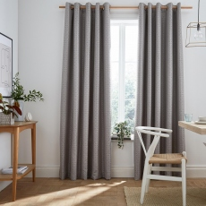 Flynn Silver Pair of Blackout Pencil Pleat Readymade Curtains