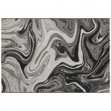 Patio Rug PAT19 Black Marble