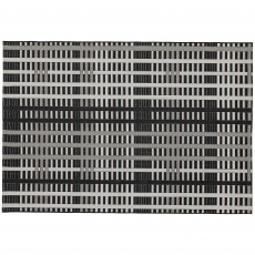 Patio Rug PAT22 Black Grid