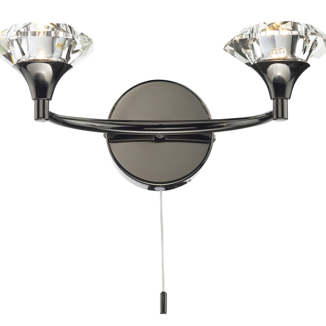 Lena Wall Light Black Chrome