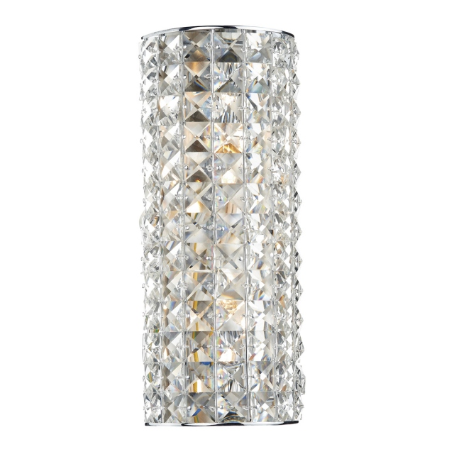 Neo 2  Light Wall Light Polished Chrome Crystal Glass