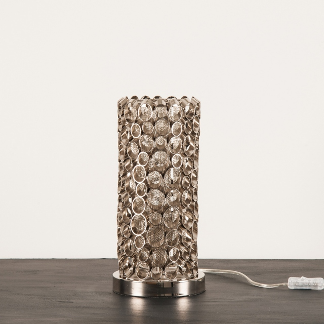 Aphrodite Nickel Tube Table Lamp