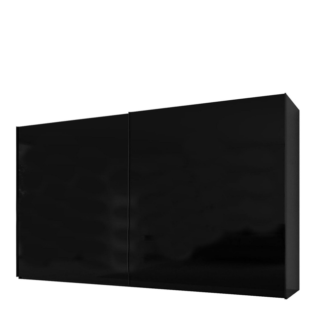 Malmo - 360cm Gliding Door Wardrobe Black Gloss/Matt