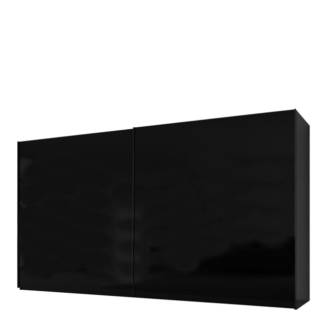 Malmo - 380cm Gliding Door Wardrobe Black Gloss/Matt