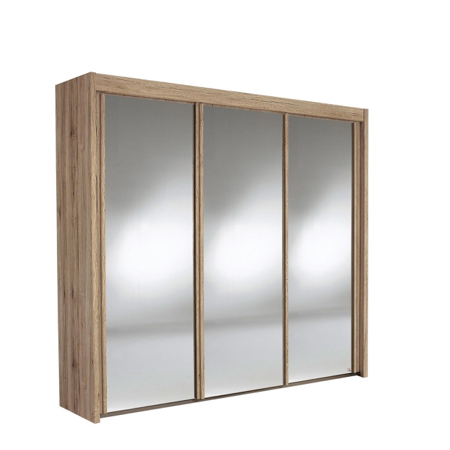 Ascot - 280cm 3 Door Mirrored Sliding Wardrobe