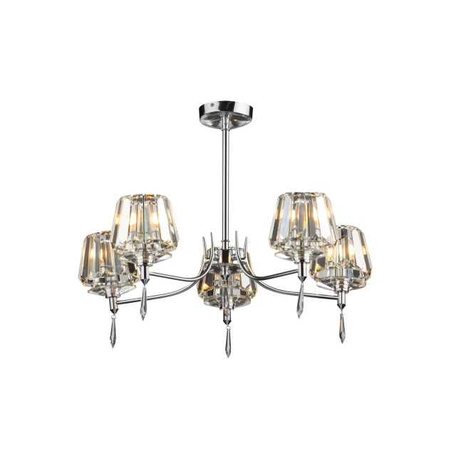 Titania 5 Light Semi Flush