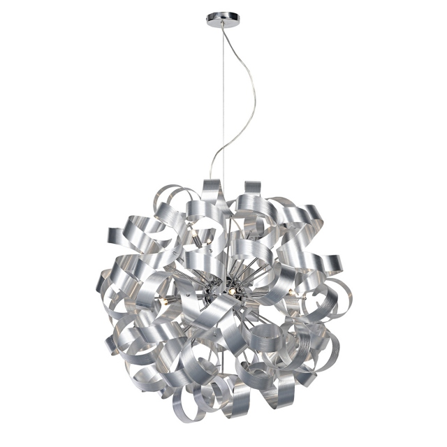 Papardalle 12 Light Pendant Brushed Chrome