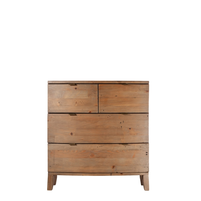 Fairmont - 4 Drawer Chest, Reclaimed Timbers In Sundried Wheat Finish