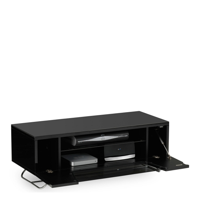 Omega - Chromium TV Unit Black High Gloss