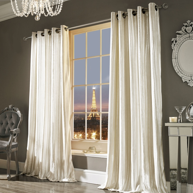 Kylie Minogue Iliana Oyster - Eyelet Curtains