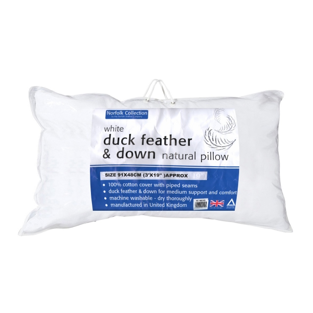 White Duck Feather & Down King Pillow