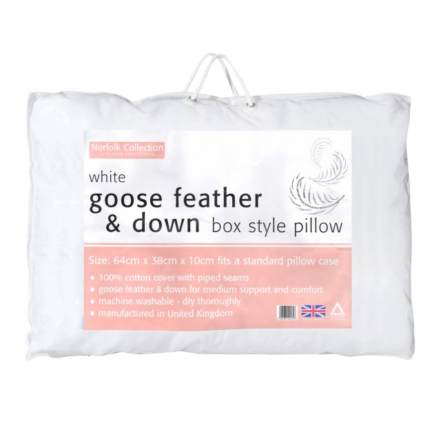 Goose Feather & Down Boxed Pillow