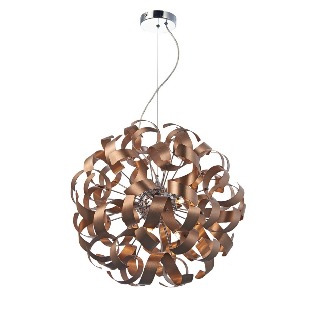 Papardalle 9 Light Pendant Satin Copper