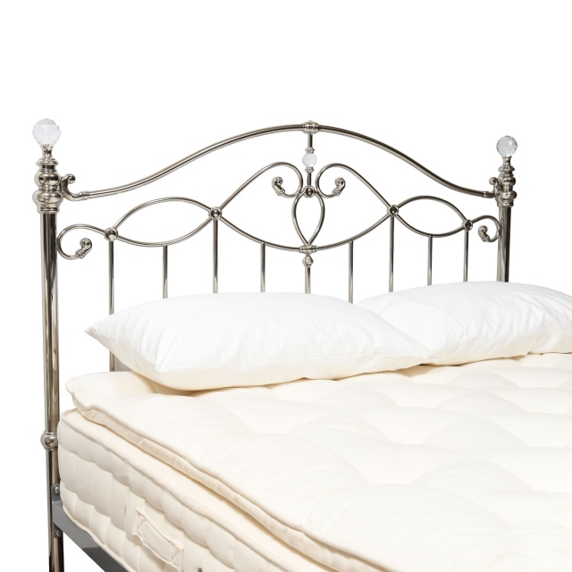 Satine - 150cm (King) Headboard Shiny Nickel Finish