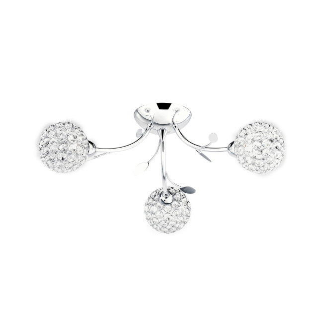 Berrie 3 Light Semi Flush Ch