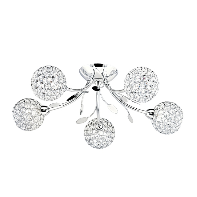 Berrie 5 Light Semi Flush Ch
