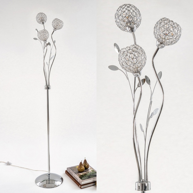 Berrie Floor Lamp Chrome