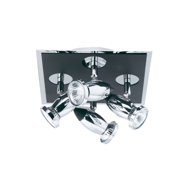 Halley 4 Spot Flush Black Chrome