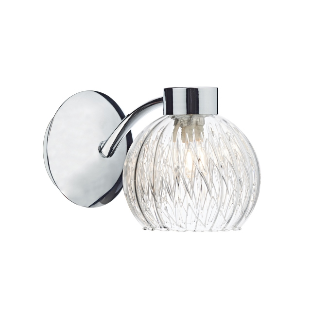 Aachen Single Wall Light Chrome