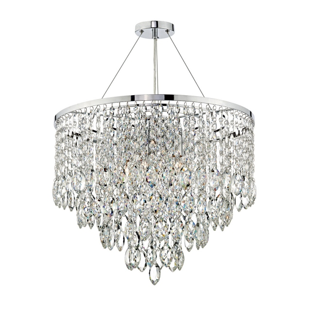 Hermia 5 Light Pendant Crystal