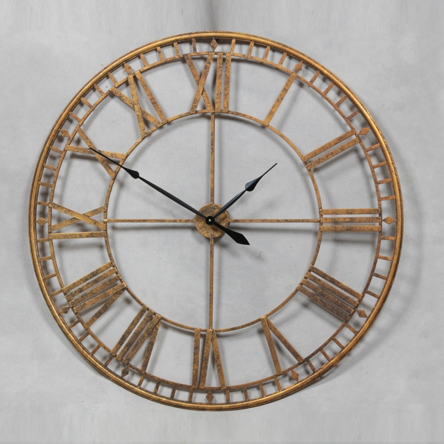 Skeleton Clock Large Gold