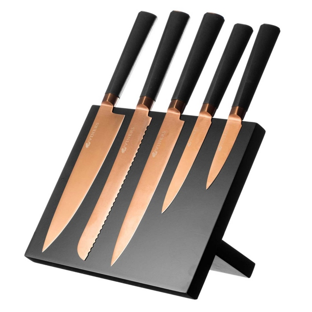 Viners Titan Copper Knife Block 5 Pieces