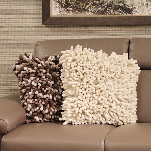 Spiky White Cushion