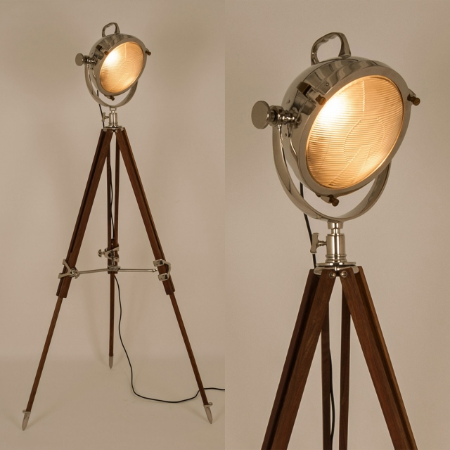 Screen Tripod Natural Floor Lamp