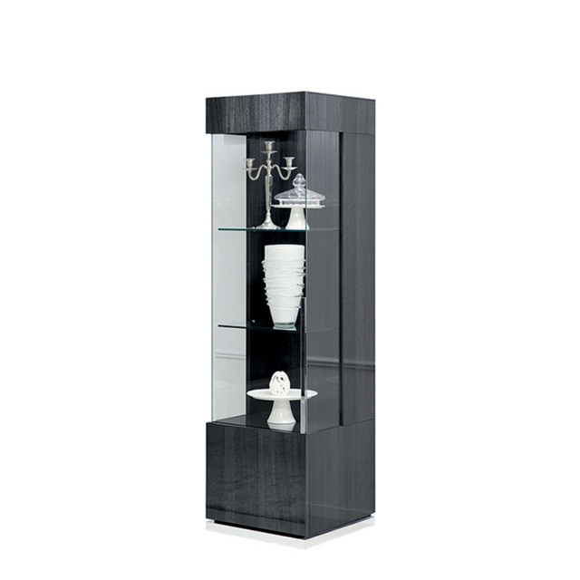 Antibes - 1 Door LH Curio Cabinet With LED Lights