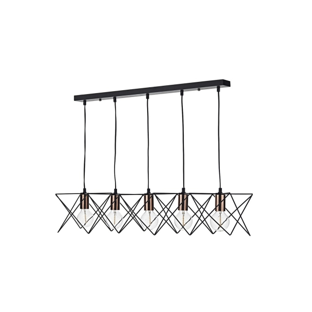 Mimirella 5 Bar Pendant Black Copper