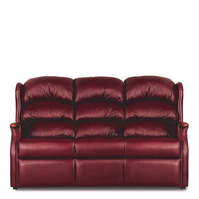 New Woodstock - Fixed 3 Seat Settee In Leather