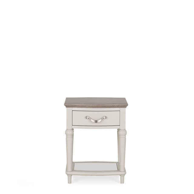 Chateau - Lamp Table In Grey Washed Oak & Soft Grey
