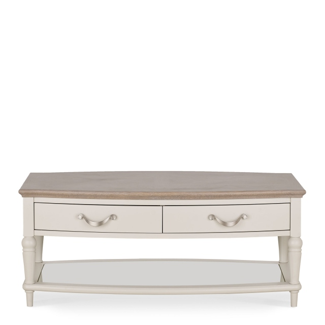 Chateau - Coffee Table In Grey Washed Oak & Soft Grey