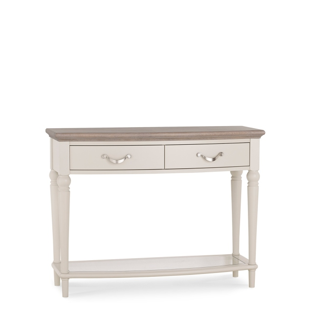 Chateau - Console Table In Grey Washed Oak & Soft Grey