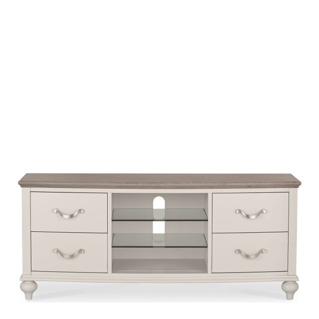 Chateau - Entertainment Unit In Grey Washed Oak & Soft Grey