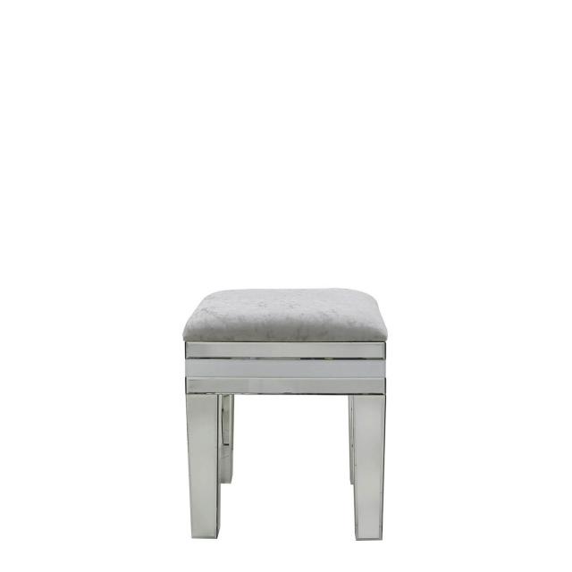 white and mirrored furniture. madison white mirror stool and mirrored furniture a
