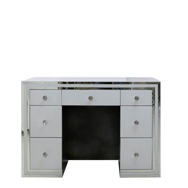 quality design 2c207 61f1e Madison - 7 Drawer Dressing Table White Clear & Mirror Finish