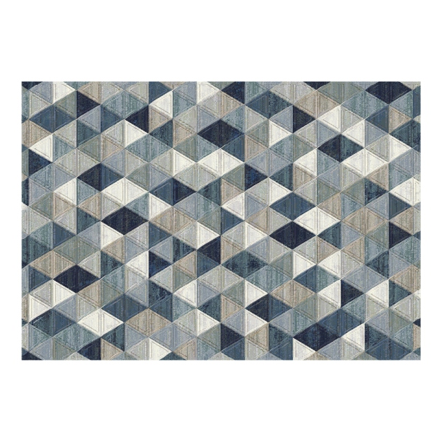 Galleria Rug 063-0263-5161 Blue Triangles 80 x 150cm