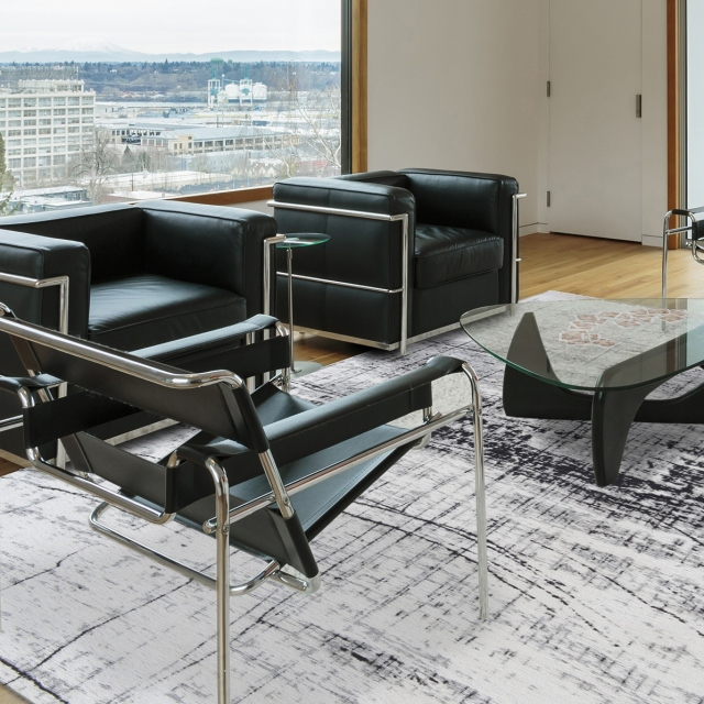 Mad Men Rug 8926 Metro Black & White