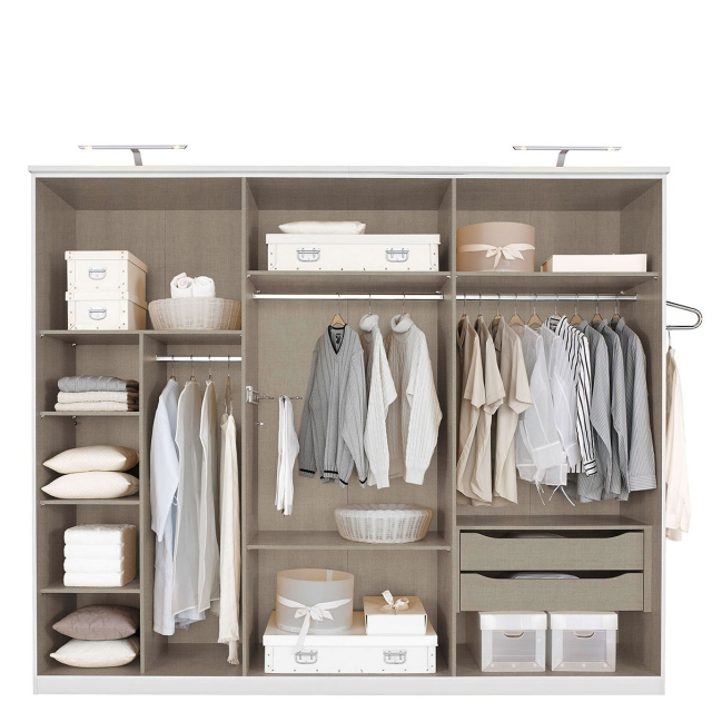 Ascot - 88cm Divider With 3 Shelves & Hanging Rail