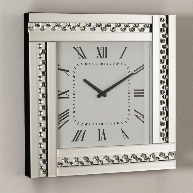 Estrella Bar Wall Clock Square - Silver