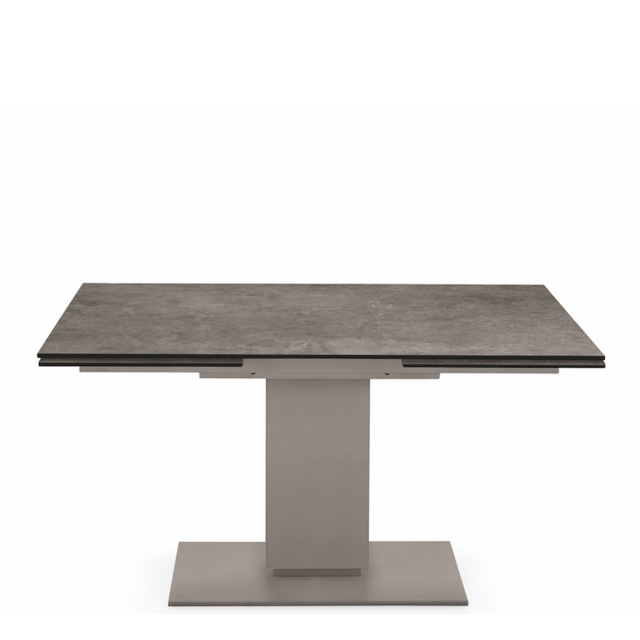 Calligaris Echo - CS/4072-R Extending Table With Ceramic Lead Grey Top