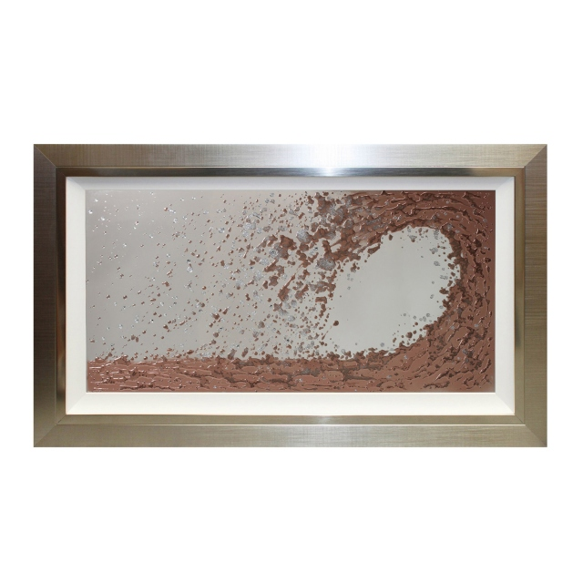 Copper Wave Mirror