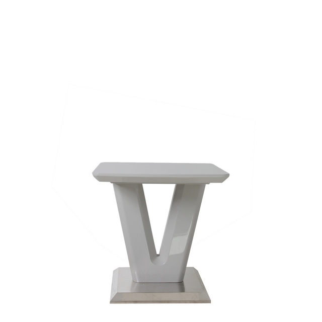 Pluto - Lamp Table Grey High Gloss
