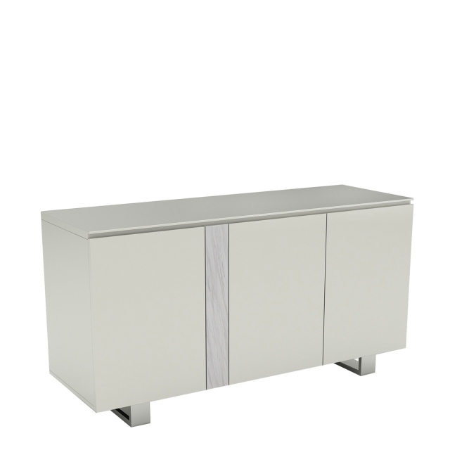 Cantania - 3 Door Sideboard In Gloss White Top