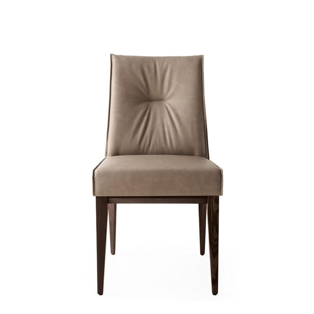 Calligaris Romy - CS/1912-VDining Chair In S0A Desert Fabric With P12 Smoke Frame