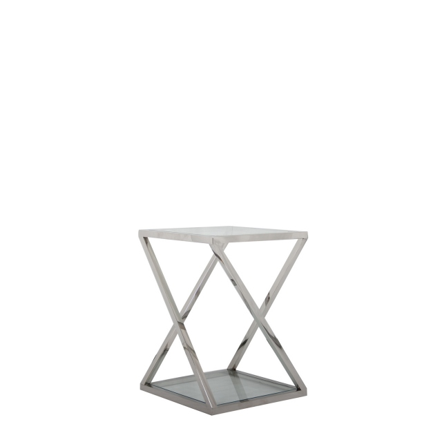 Trento - Small Glass Top Plant Table