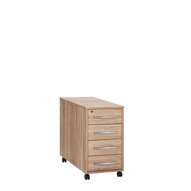 Vega - 4 Drawer Desk High Pedestal