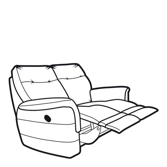 Parker Knoll Hudson Fabric - Manual Double Recliner 2 Seat Sofa