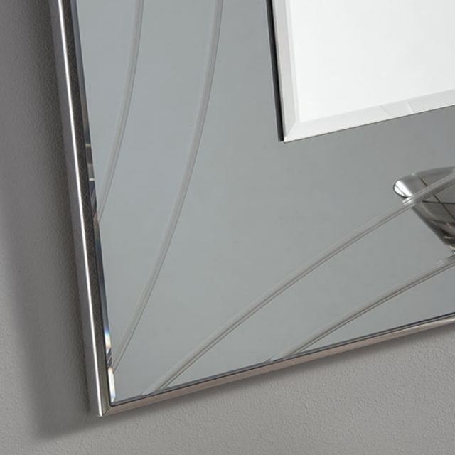 Deco Mirror - Grey - 107 x 76cm